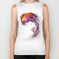 surfing Biker Tanks featuring Space Surfing by nicebleed