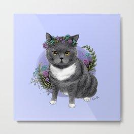 Suet Suet Cat Metal Print