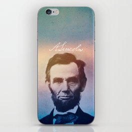 Stand Firm. Lincoln. 1809-1865. iPhone Skin