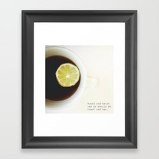Toast & Tea 2 Framed Art Print