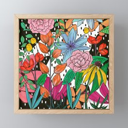 Colorful Floral Explosion Framed Mini Art Print
