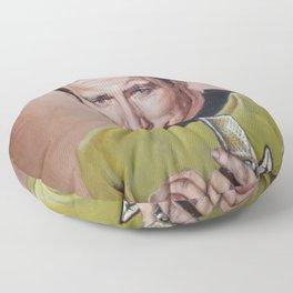 Captain Kirk - Portrait Painting Floor Pillow