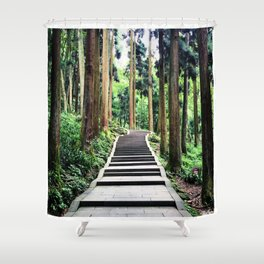 Begins with a simple step Shower Curtain