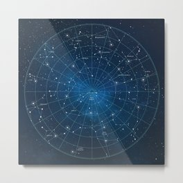 Constellation Star Map Metal Print