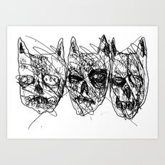 Dumb Lame Bat Heads Art Print