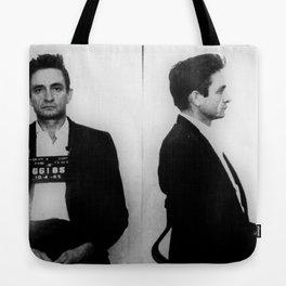 Johnny Cash Mug Shot Horizontal Tote Bag