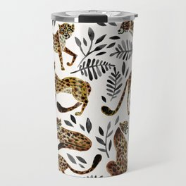 Cheetah Collection – Mocha & Black Palette Travel Mug