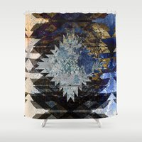 southwest Shower Curtains featuring Frosted Southwest by North 10 Creations