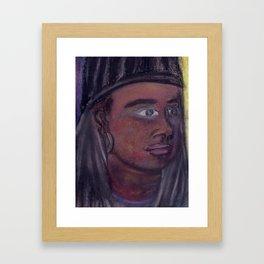 Self-Portrait of a College Senior Framed Art Print