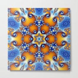 Ocean Life Mandala Metal Print