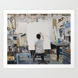 Blank Canvas Art Print