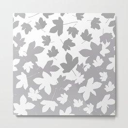 Envelope leaves decor. Grey.white. Metal Print