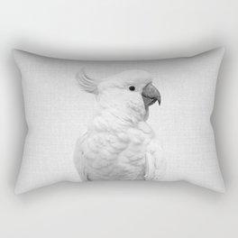 White Cockatoo - Black & White Rectangular Pillow