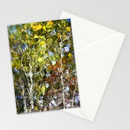 Abstract Tree Reflection Stationery Cards