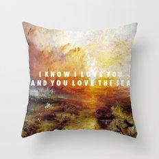 Ship of Unbelievers Throw Pillow