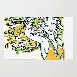 Afrolatina lemonade - 2 - sexy girl Rug