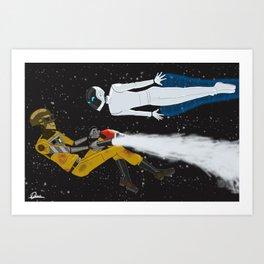 Daft Punk / Wall-E Mashup Art Print