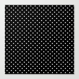 Dots (White/Black) Canvas Print