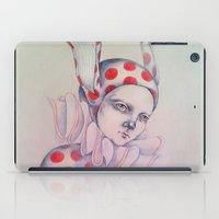 card iPad Cases featuring The card of hearts by Zina Nedelcheva