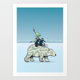 Nature warriors: From Pole to Pole Art Print