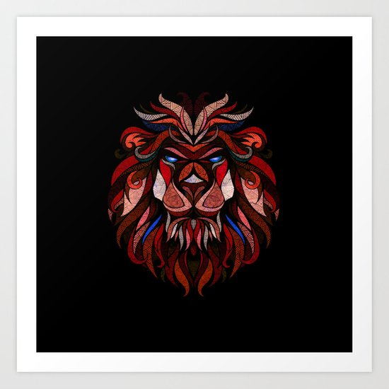 Red Lion Art Print