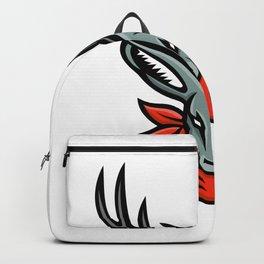 Jackalope Wearing Bandanna Mascot Backpack