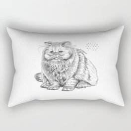 Yes it is a real cat! Rectangular Pillow