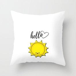 Hello Sunshine Positivity Art Throw Pillow