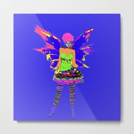 Fairy Punk Metal Print