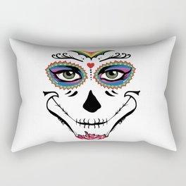 Dia de los Muertos Face Rectangular Pillow