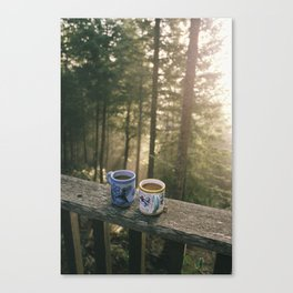 One More Cup Of Coffee Canvas Print