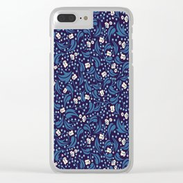 Starlit Forest Floor Clear iPhone Case