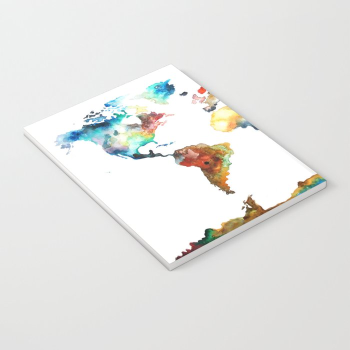 World map notebook by blackwinter society6 world map notebook gumiabroncs Choice Image
