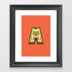 A for Angry Framed Art Print