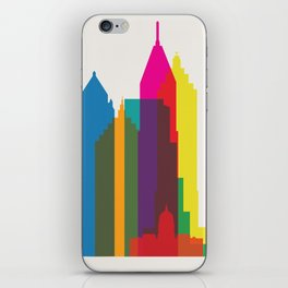 Shapes of Atlanta. Accurate to scale iPhone Skin