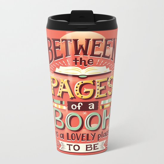 Between pages Metal Travel Mug