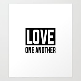 byu love one another Art Print