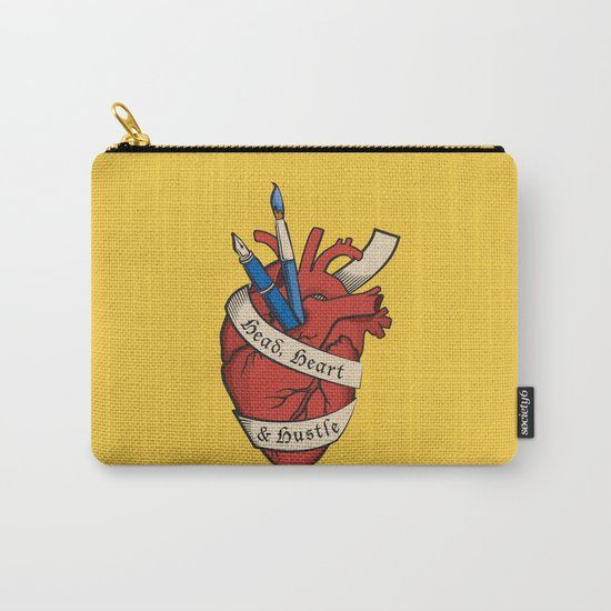 Head, heart & hustle Carry-All Pouch
