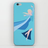 frozen elsa iPhone & iPod Skins featuring Frozen - Elsa by TracingHorses