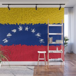 Extruded flag of Venezuela Wall Mural