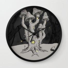 Mushroom Mansion Wall Clock