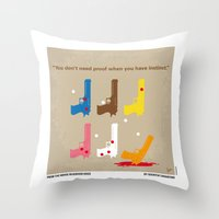 reservoir dogs Throw Pillows featuring No069 My Reservoir Dogs minimal movie poster by Chungkong