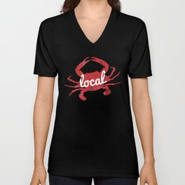 Maryland Red Crab Local Unisex V-Neck