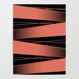 Black and red. Poster