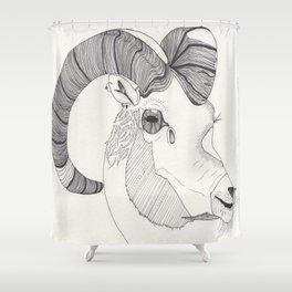 Rad Ram Shower Curtain