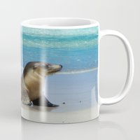 seal Mugs featuring Seal by Mel Forshee