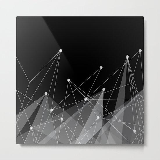 Black fractals Metal Print