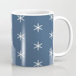 Falling Snow Flakes in the Night Sky Coffee Mug