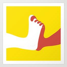 Holding feet Art Print