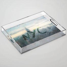Rainy Day in NYC Acrylic Tray